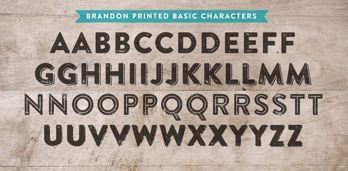 Brandon Printed Font