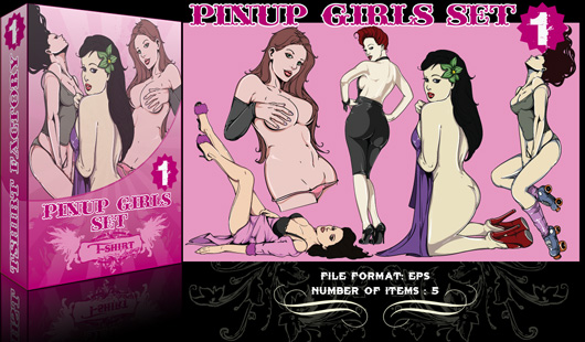 Pin-up girls vector pack. In order to add inventivity, modern styles make ...