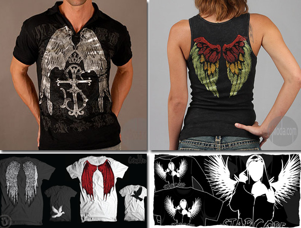 the butterfly wings, raven wings or tribal wings (very popular in goth
