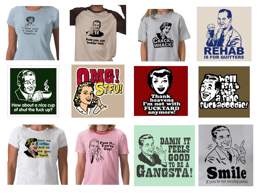 Funny t-shirts have been popular since forever!