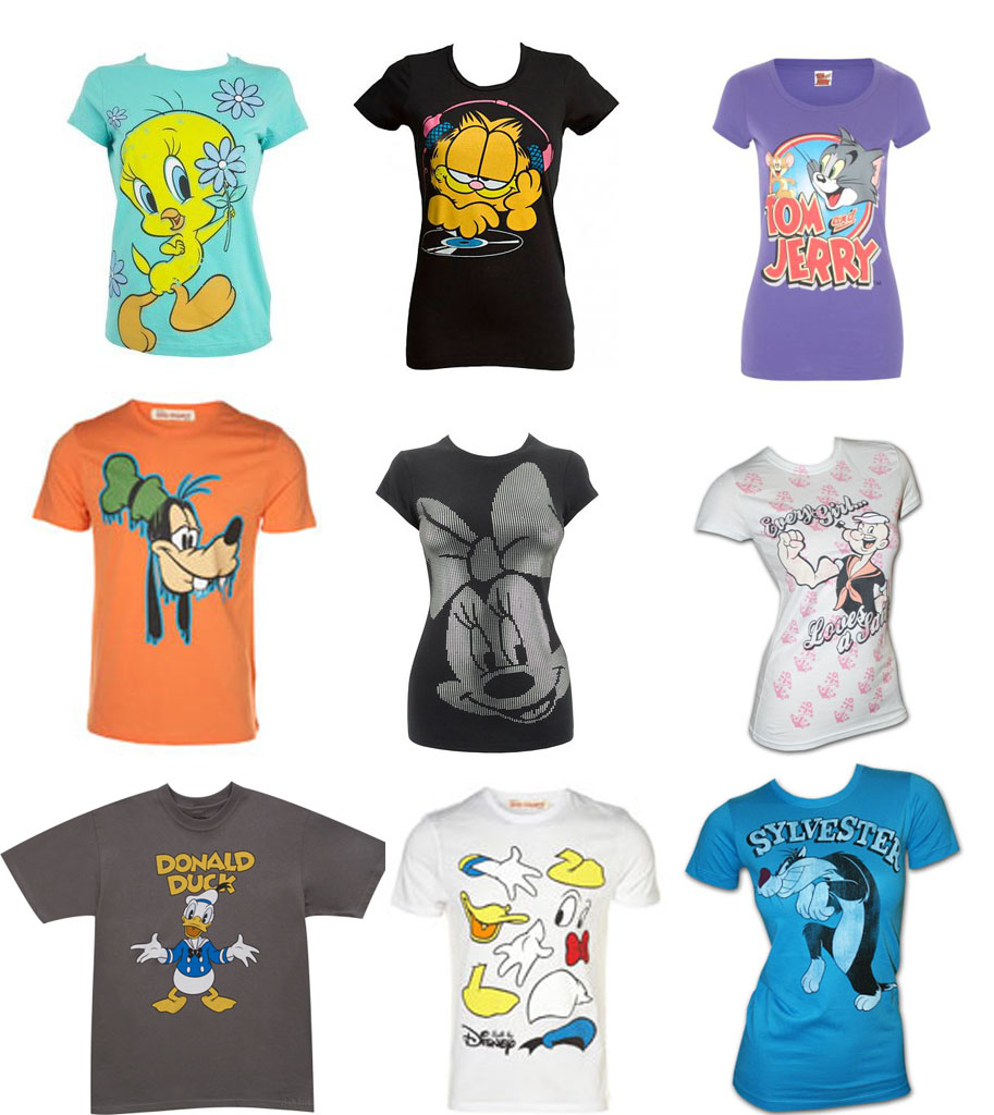 T Shirts Cartoon Characters : T shirts for kids