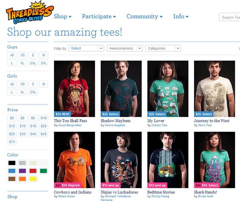 The best 15 t shirt online stores for The best online shopping