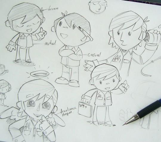 Drawing the Mascot