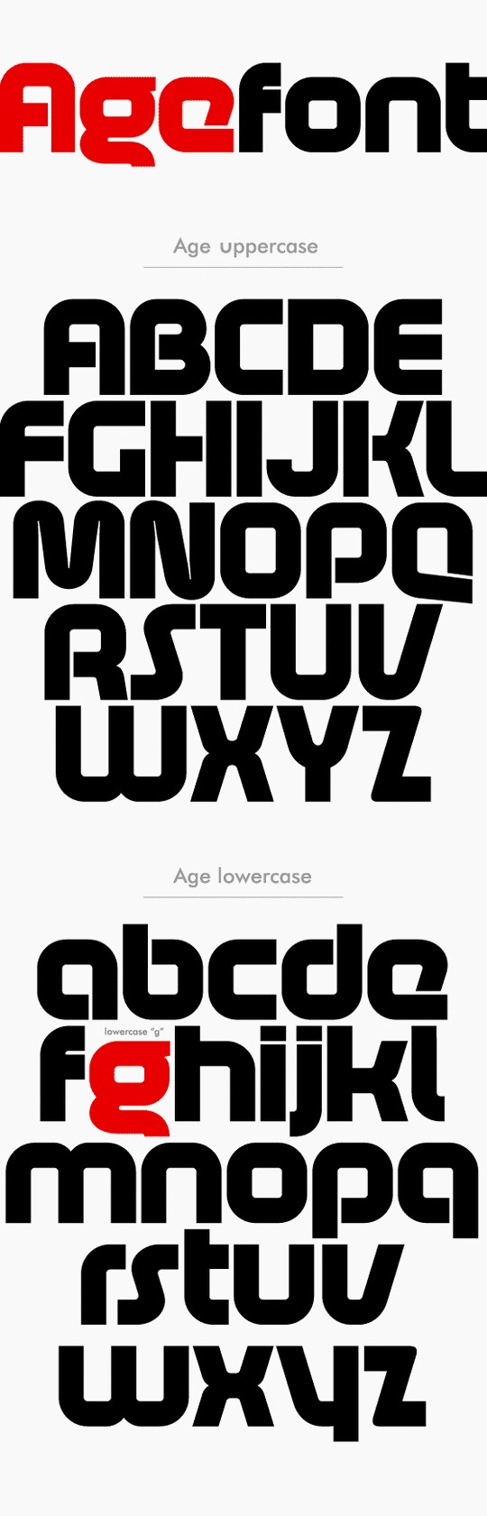 Age Font Sample