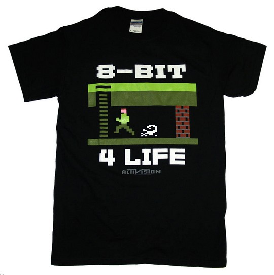 8 bit for life old school tshirt