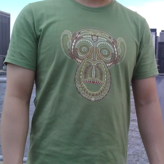 Symbolika Tee - ta moko monkey