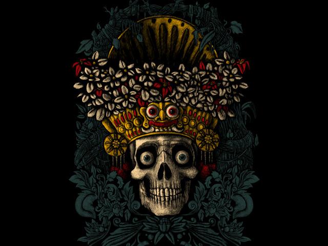balinese dancer's skull