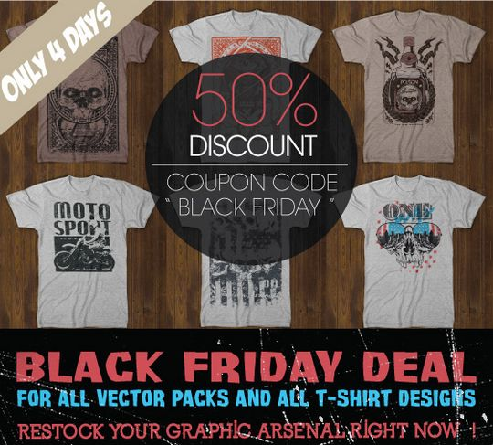 Black Friday t shirt sale from www.tshirt-factory.com