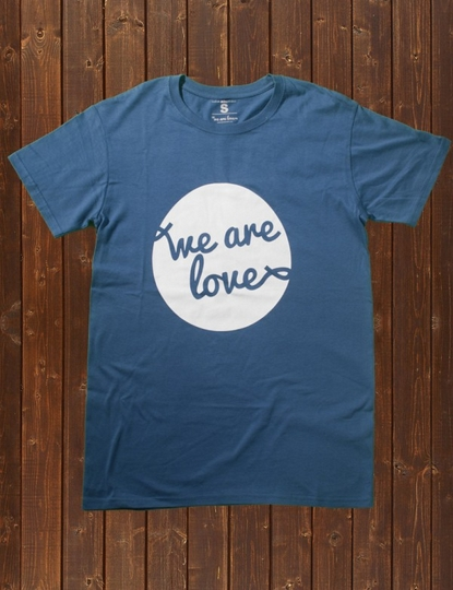 we are love t shirt line for charity