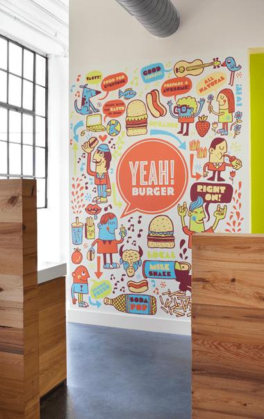 Wall print illustrations