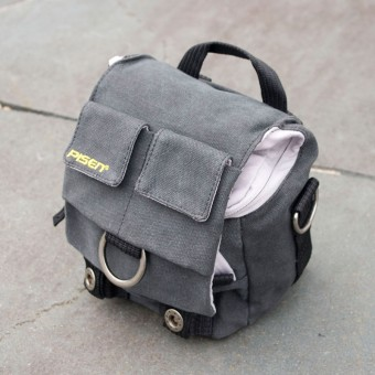 Grey Canvas DSLR Camera Bag by Pisen