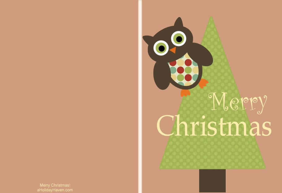 This is a picture of Lively Christmas Card Printable