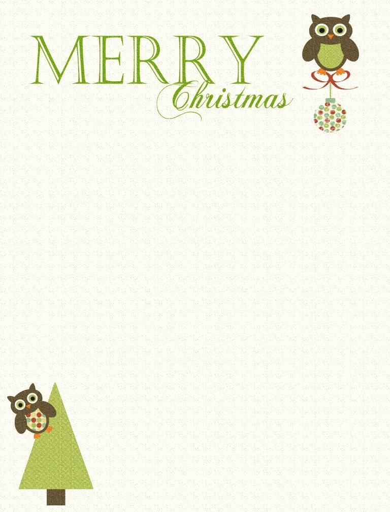Go Back > Gallery For > Printable Christmas Letter Paper