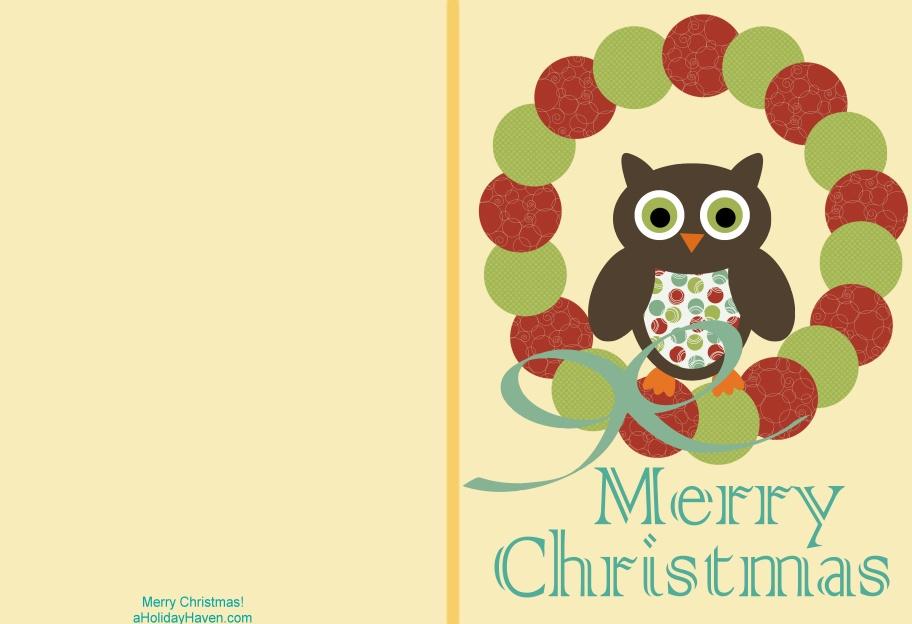 christmas card templates printable .
