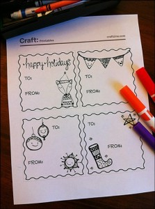 Doodle Holiday Tags