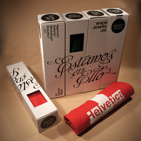 Box set with Helvetica type