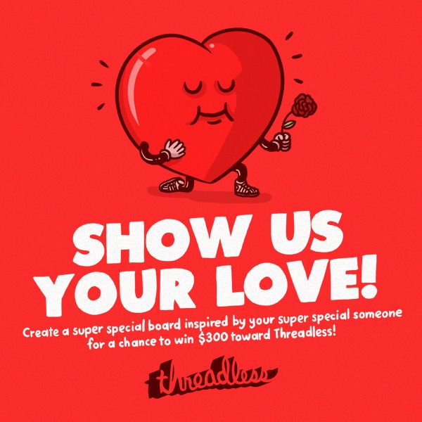 Threadless has a Pinterest contest worth $300 Threadcash