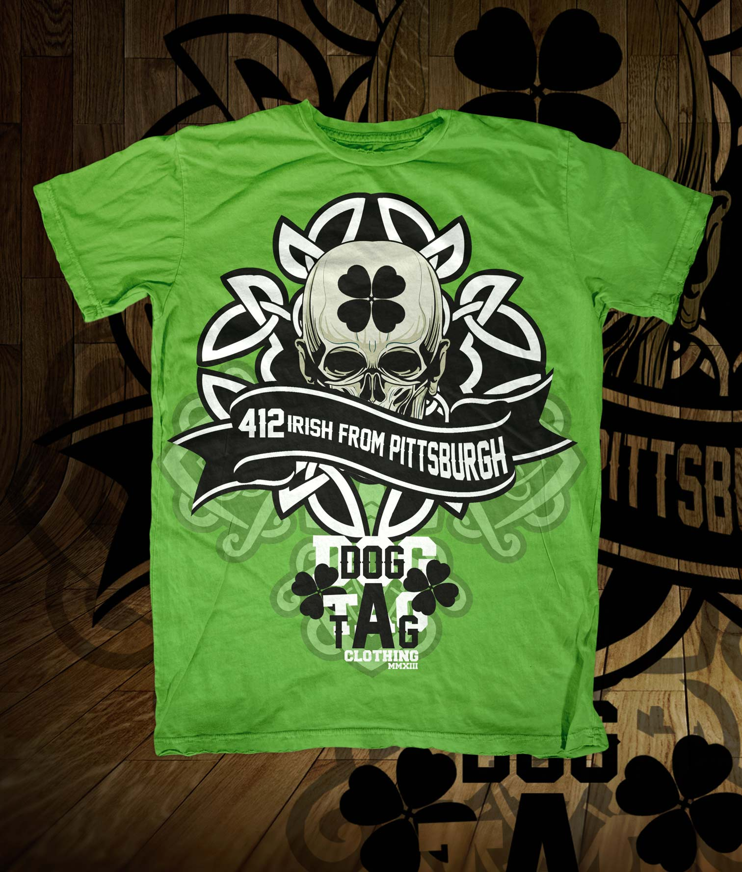 St Patricks Shirt Pittsburgh Irish Tee