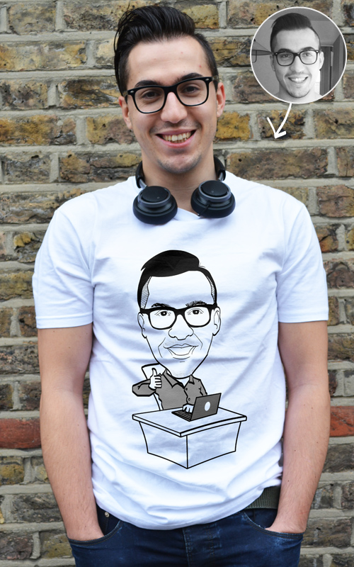Custom cartoon - Your face on a t-shirt! - T-Shirt Factory