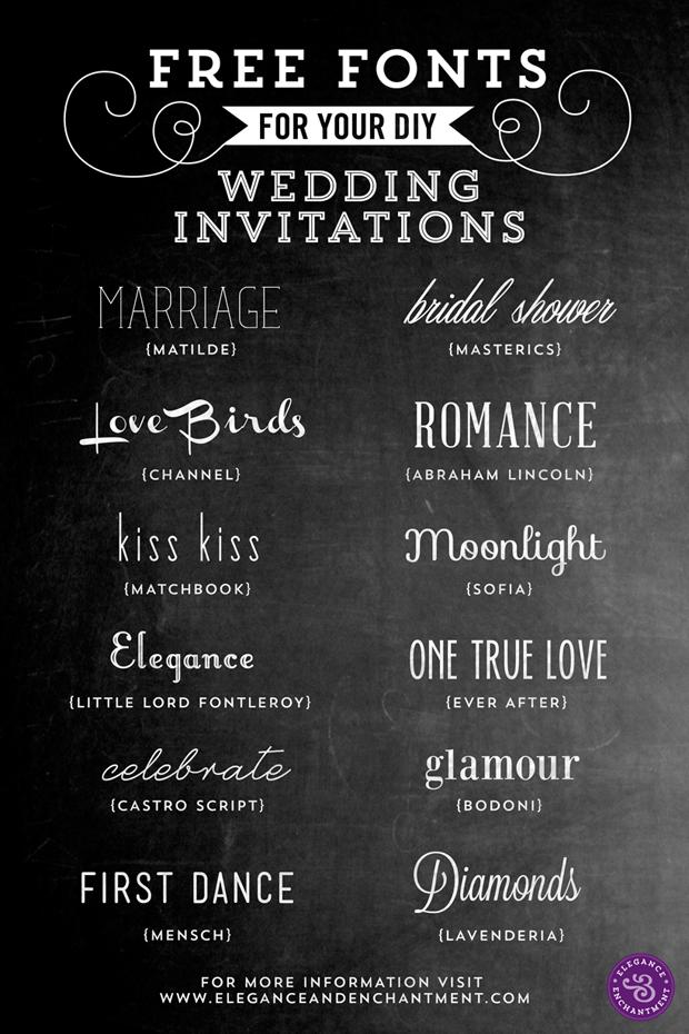 Free Wedding Fonts Invitation - T-Shirt Factory