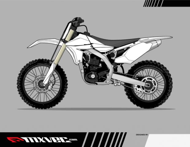 free motocross bike vector