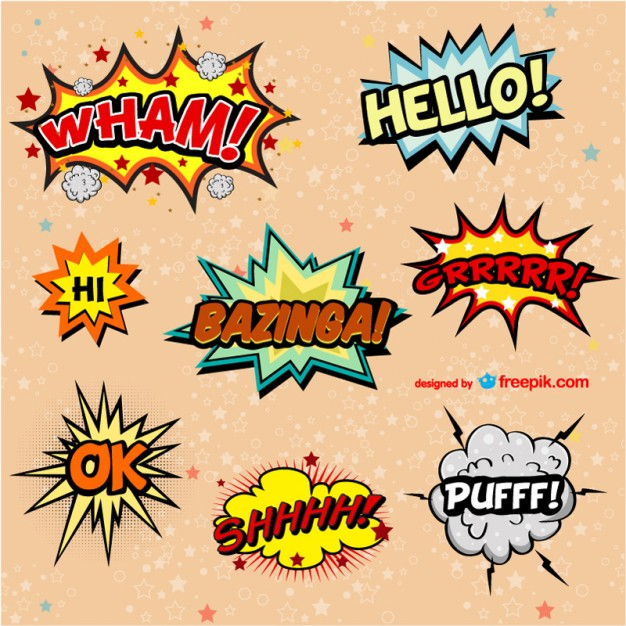 Free comic book vector exclamations – T-Shirt Factory