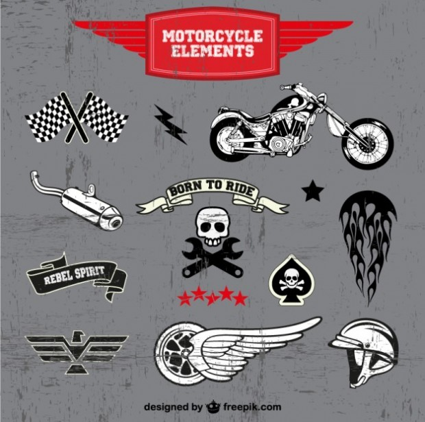 free vector Motorcycle