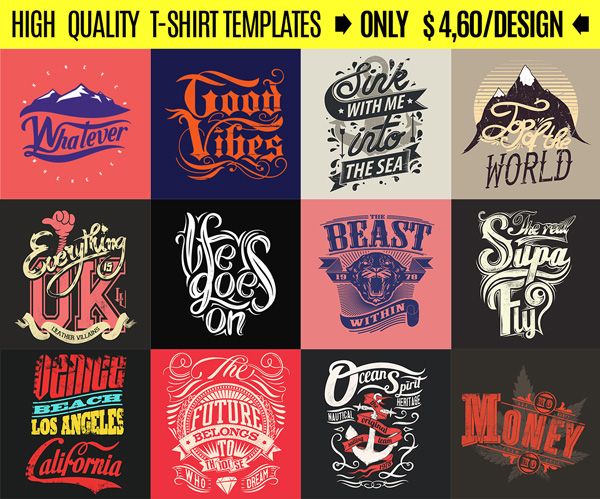 Deal Of The Month Typography Designs Sale