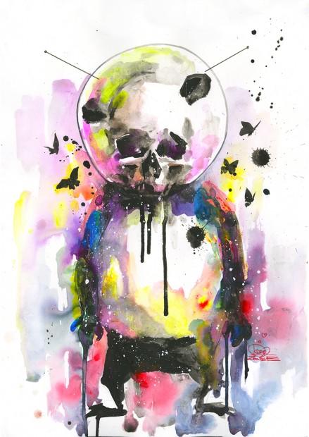 HEROTIME-Original-Art-Space-Panda-II-Email