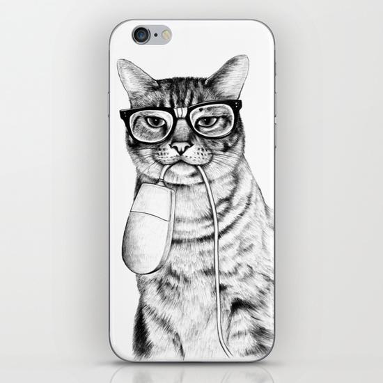 Cat phone skin