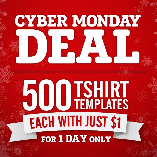 cyber monday t-shirt design sale