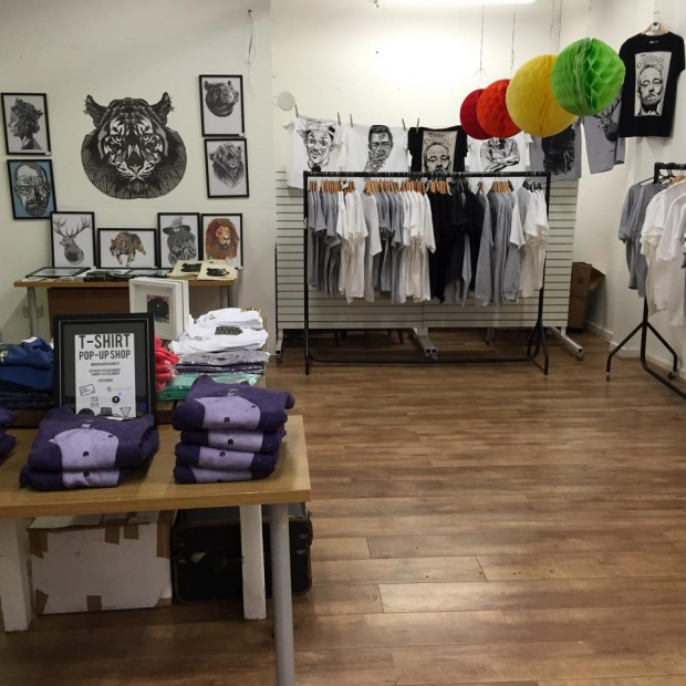 Nook cranny independent t shirt pop up shop for Create t shirt store online