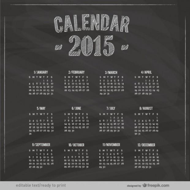 Calendars for 2015 free vectors