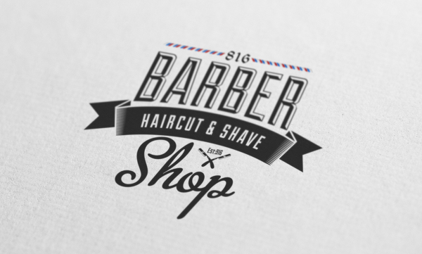 barber shop vintage label free download