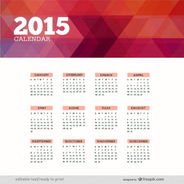 Calendar for 2015- free vectors