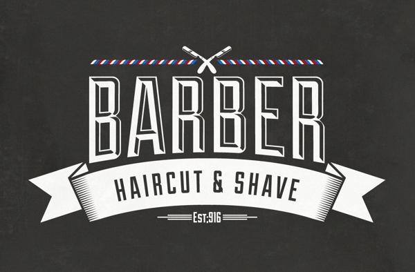 Barber Shop VIntage Label