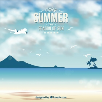 summer near the sea vectors