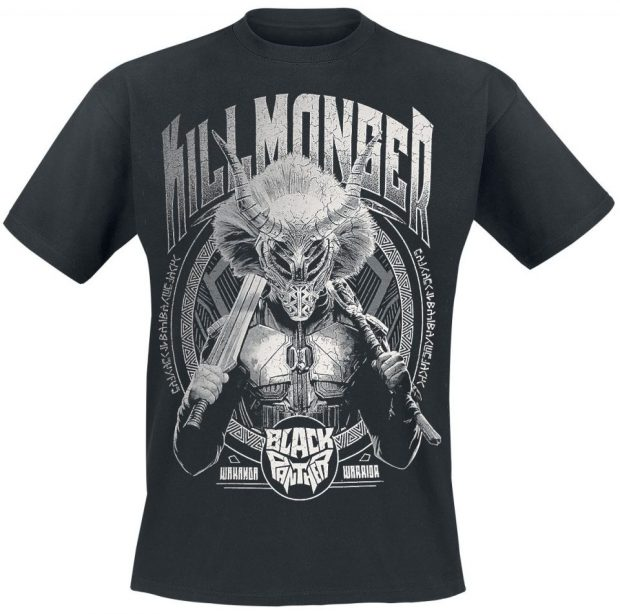 black panther t shirts featuring erik killmonger tshirt. Black Bedroom Furniture Sets. Home Design Ideas