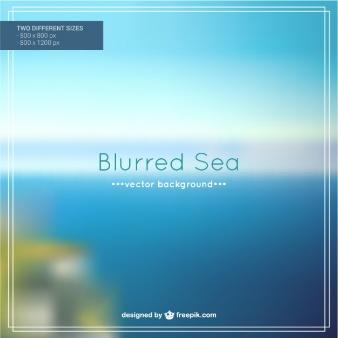 blurred sea