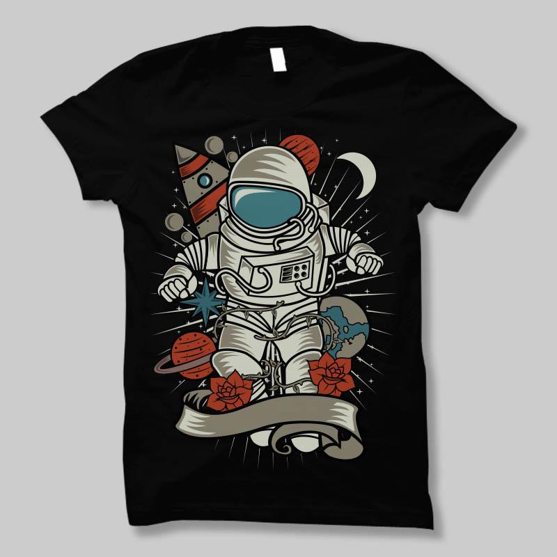 Astronaut-T-shirt-template-20829