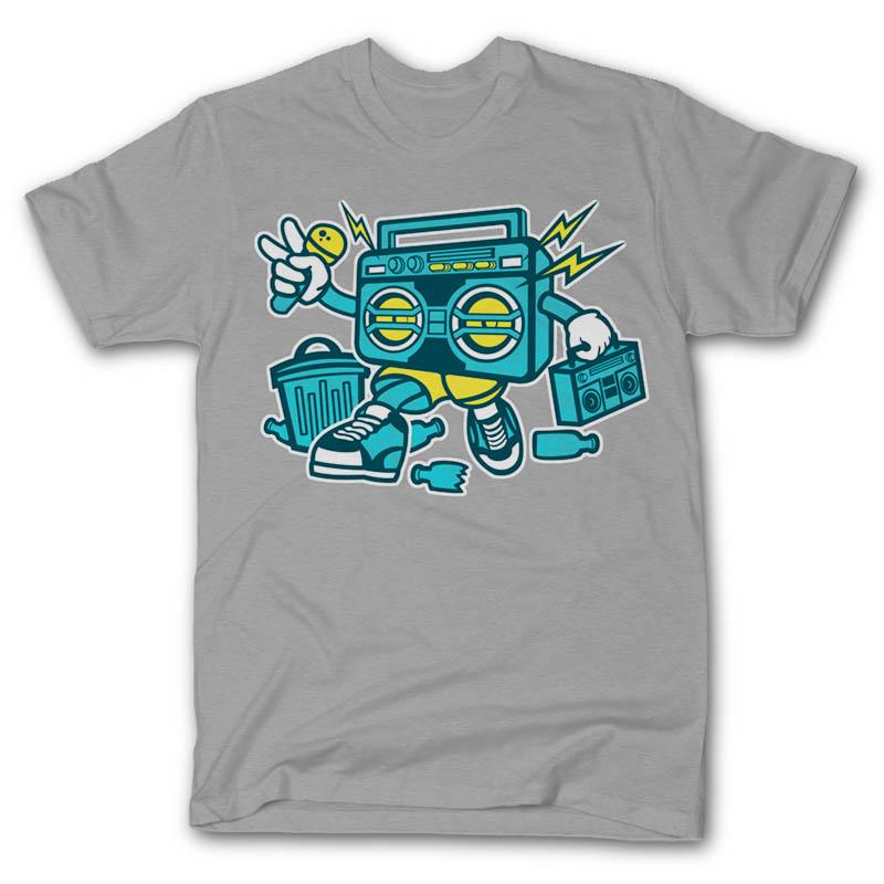 Boombox-T-shirt-clip-art-18993