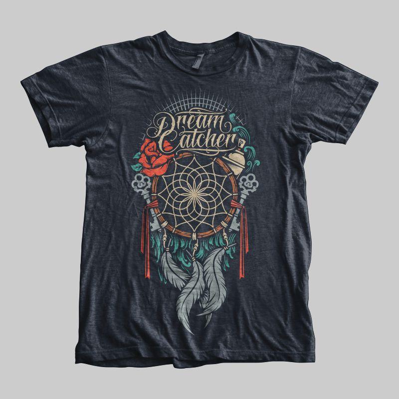 Dream-Catcher-T-shirt-template-20012