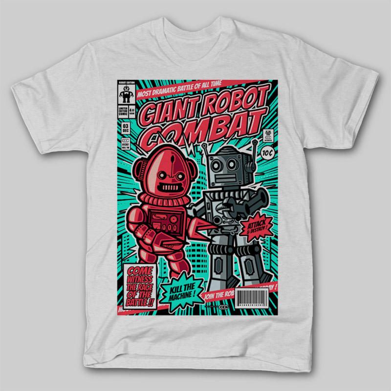 Giant-Robot-Combat-T-shirt-clip-art-18618