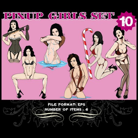 Pinup-Vector-Set-10-Vector-graphics-9803