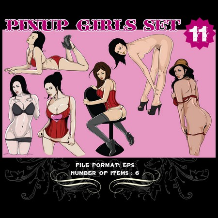 Pinup-Vector-Set-11-Vector-art-9805
