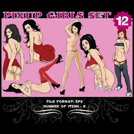 Pinup-Vector-Set-12-Vector-art-9807