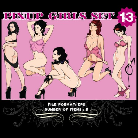 Pinup-Vector-Set-13-Vector-art-9809