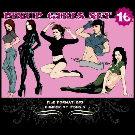 Pinup-Vector-Set-16-Vector-graphics-9815