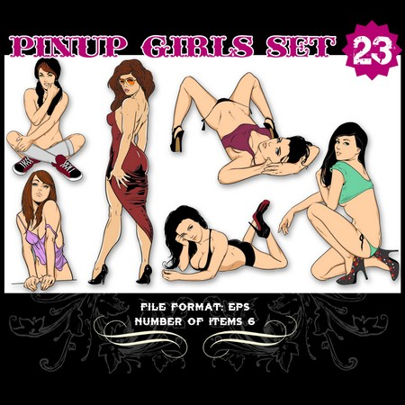 Pinup-Vector-Set-23-Vector-graphics-9829