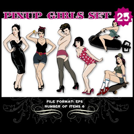 Pinup-Vector-Set-25-Vector-art-10711